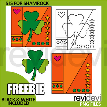 St Patricks Day Clip Art Free, Shamrock Pop Art clipart for activities, coloring