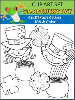 St. Patrick's Day Clip Art Starter Kit (Color and BW)