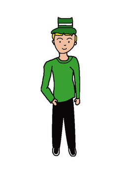 St. Patricks Day Clip Art boy and girl multiple styles transparent background
