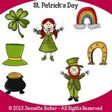 St. Patrick's Day Clip Art by Jeanette Baker