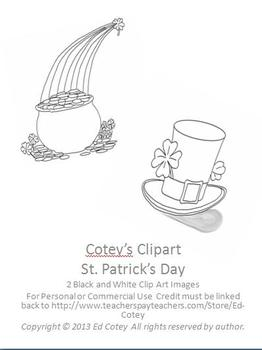 St. Patrick's Day Clip Art for Personal or Commercial Use