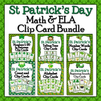 St Patricks Day Clip Cards Bundle