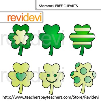 St. Patrick's Day Clip art FREE - Shamrock clipart