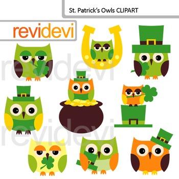St. Patrick's Day Clip art - St. Patrick's Owls cliparts