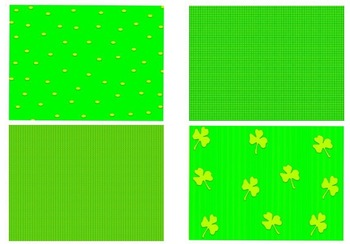 St. Patrick's Day Clipart: 19 graphics and 4 digital paper Backgrounds