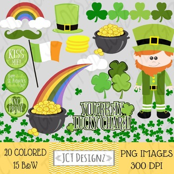 St. Patricks Day Clipart, St. Patrick's Day, Digital Scrapbooking, leprechaun