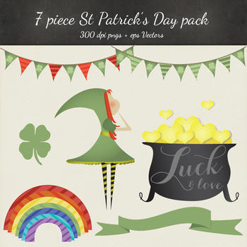 St Patricks Day Clipart Vector Pack