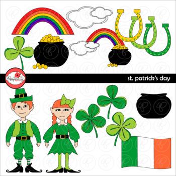 St Patricks Day Clipart by Poppydreamz