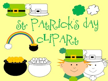 St. Patrick's Day Clipart for Personal or Commercial Use
