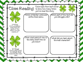 St Patrick's Day - Close Reading Pack