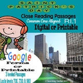 St. Patricks Day Close Reading Passages Print and Go or Digital