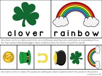 St. Patrick's Day Clothespin Tasks