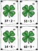 St. Patrick's Day Clover Addition Math Center (Common Core)