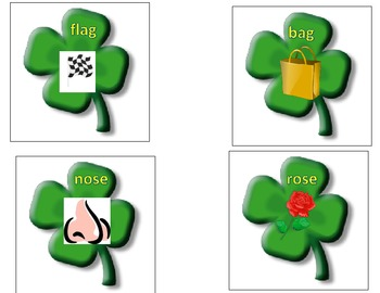 St. Patrick's Day Clover Rhyming Common Core Reading Standards