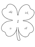 St. Patrick's Day Clover Word Families