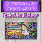 St Patricks Day Color Words