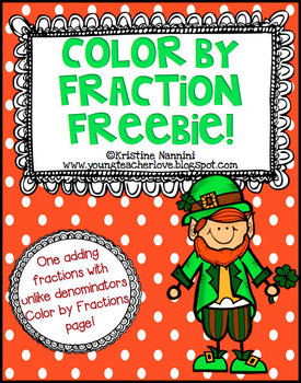 St. Patrick's Day Color by Fraction Freebie!