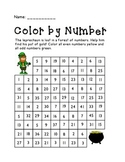 St. Patrick's Day Color by Number- Freebie!
