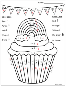 St. Patrick's Day Color by Number- Multiplication, Division, Fractions and more!