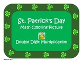 St. Patrick's Day Color by Numbers - Double Digit Multiplication
