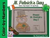 St. Patrick's Day Color-by-Teen-Numbers