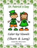 St. Patrick's Day Color-by-Vowels (Short/Long), 4 Short Vowel & 4 Long Vowel