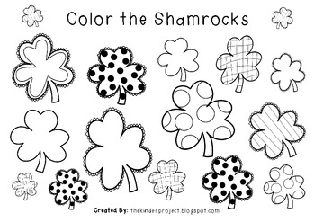 St. Patrick's Day - Color the Shamrocks