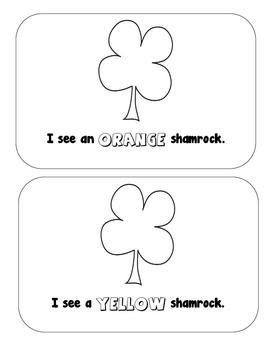 St. Patricks Day: Colorful Shamrocks Emergent Reader
