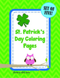 St. Patrick's Day Coloring Pages - Set of 5!