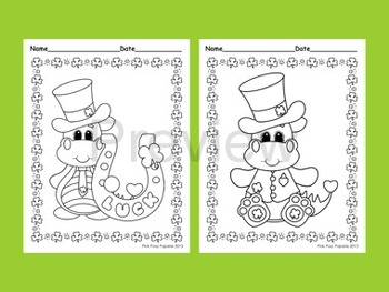 St. Patrick's Day Coloring Pages - 8 Different Designs