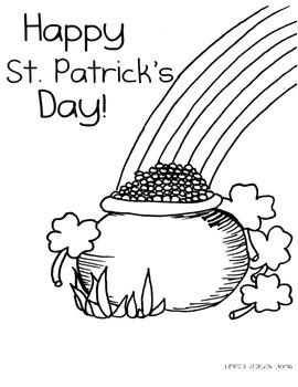 St. Patricks Day Coloring Sheet