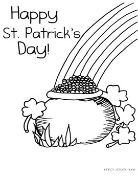 St. Patricks Day Coloring Sheet