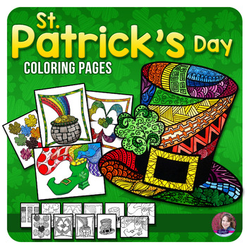 St. Patrick's Day Doodle Coloring Sheets