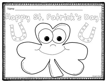 St. Patrick's Day Coloring Sheets FREE!
