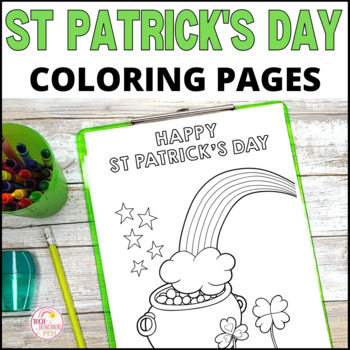St Patrick's Day Colouring Sheets - Fun for the whole class $1 DEAL