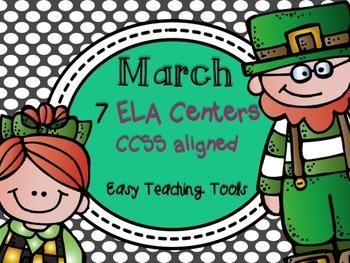 St. Patrick's Day Common Core Aligned ELA Centers {7}