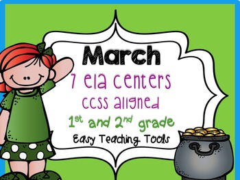 St. Patrick's Day Common Core Aligned ELA Centers for 1st