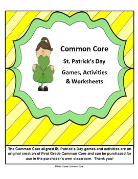 St. Patrick's Day Common Core Aligned Games and more!