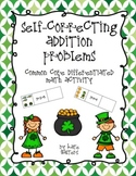 St. Patrick's Day Common Core Differentiated Self-Correcting Addition Problems