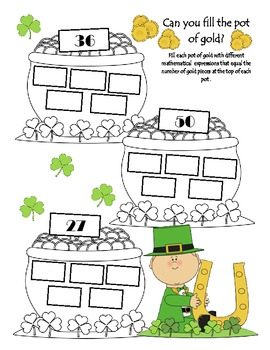 St. Patrick's Day Common Core Fun Activities