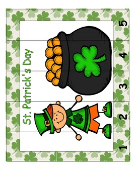 St. Patrick's Day Common Core Leveled Skip Counting Number Puzzlers (8 Total)