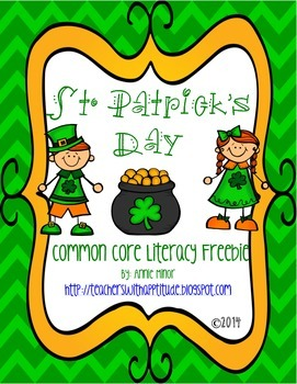 St. Patrick's Day Common Core Literacy Freebie