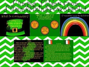 St. Patrick's Day Common Core Main Idea and Summarizing Bundle