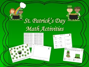 St. Patrick's Day Common Core Math Activities
