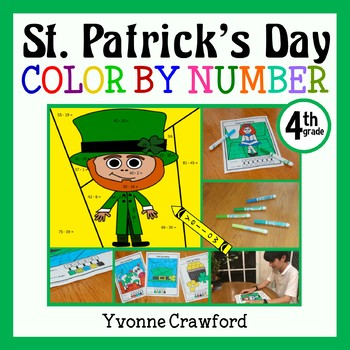 St. Patrick's Day Color by Number (fourth grade) Color by Fractions, Rounding