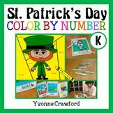 St. Patrick's Day Color by Number (kindergarten) Color by Number & Shapes