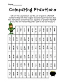 St. Patrick's Day Comparing Fractions Activity