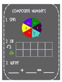 St Patrick's Day Composing Numbers-Addition Smartboard Activity