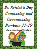 St. Patrick's Day Composing and Decomposing Numbers 11-19