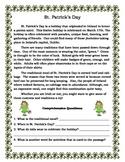 St. Patrick's Day Comprehension